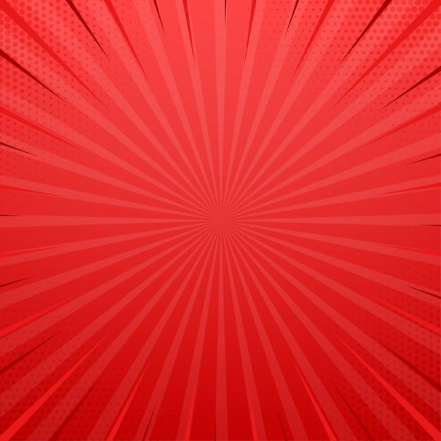 Rood zijluik met halftooneffect. vintage pop-art retro vectorillustratie. Premium Vector