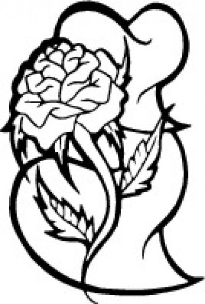 roos en hartjes gratis vector
