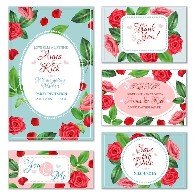 Rose flower banners Gratis Vector