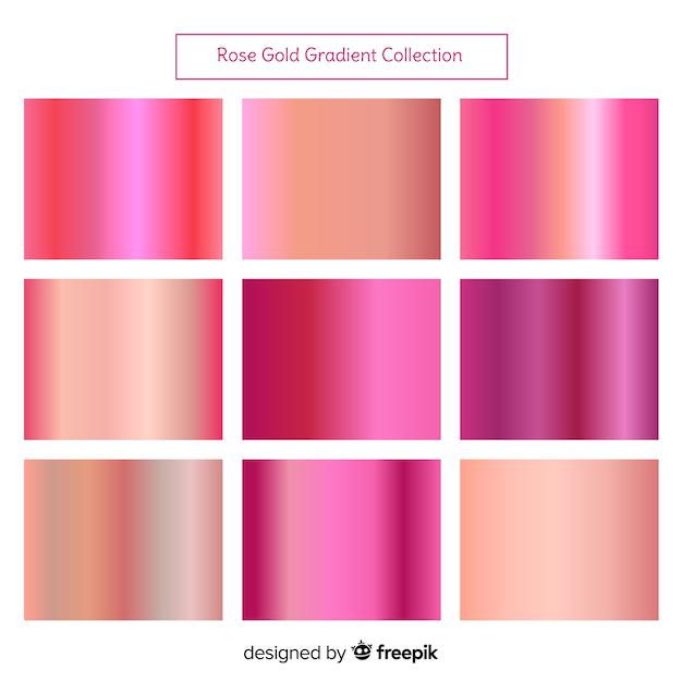 Rose gold gradient achtergrond Gratis Vector