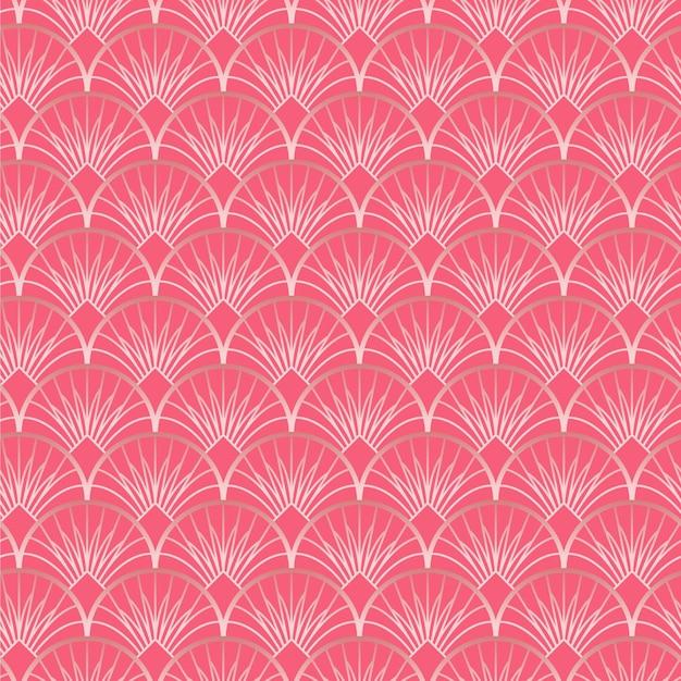 Rose goud art deco patroon Premium Vector