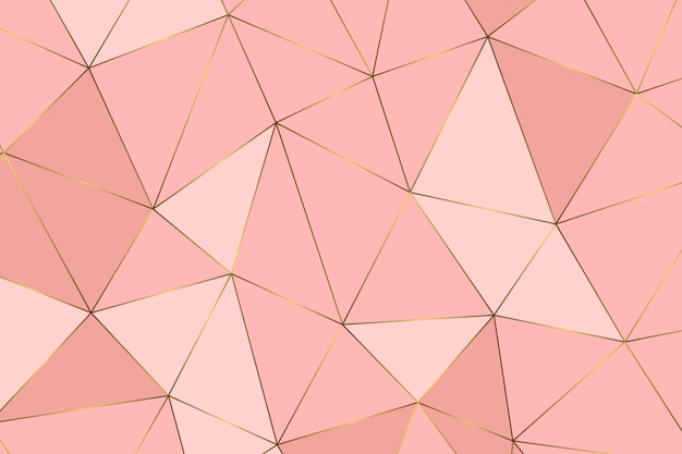 Rose goud geometrisch abstract patroon Premium Vector