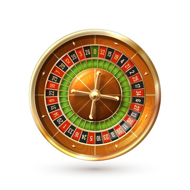 Roulette wiel geïsoleerd Gratis Vector
