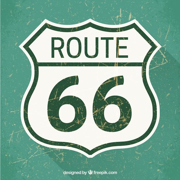 Route 66 verkeersbord Gratis Vector