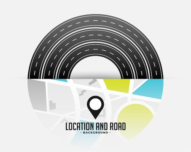 Routekaart traject reizen ontwerp Gratis Vector