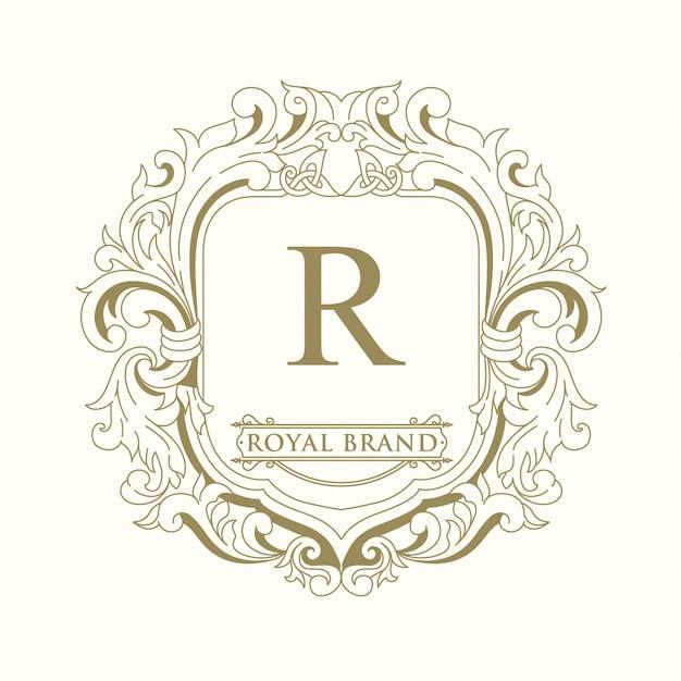 Royal brand logo-ontwerp Premium Vector