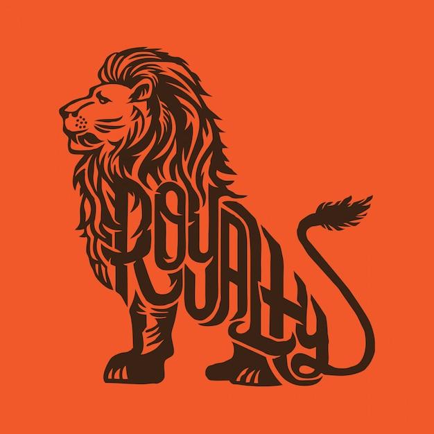 Royalty lion Premium Vector