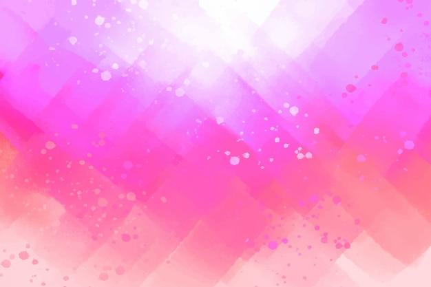 Roze abstracte handgeschilderde achtergrond Gratis Vector