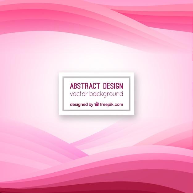 Roze achtergrond met golven Gratis Vector