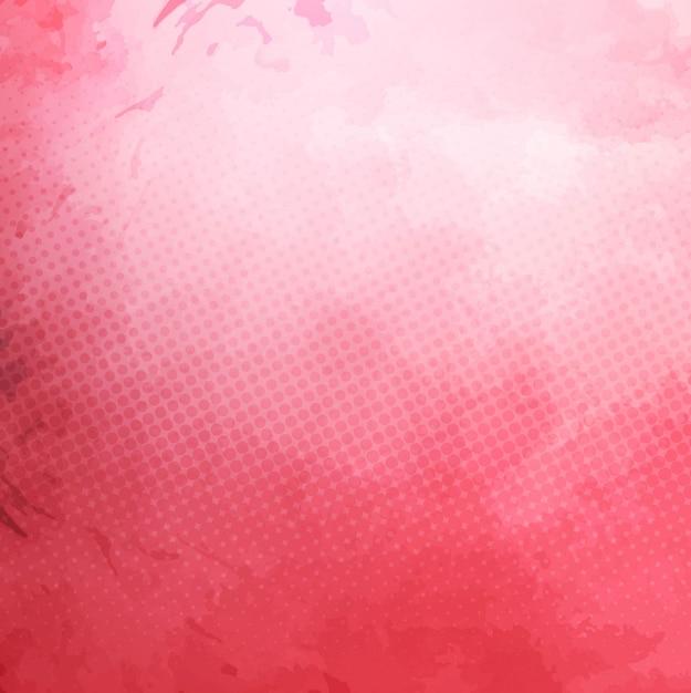 Roze aquarel achtergrond Gratis Vector