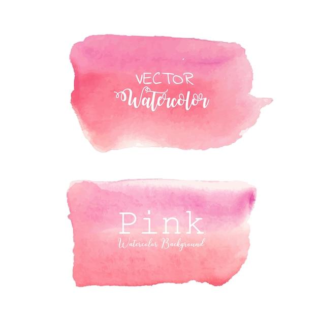 Roze aquarel achtergrond. Premium Vector