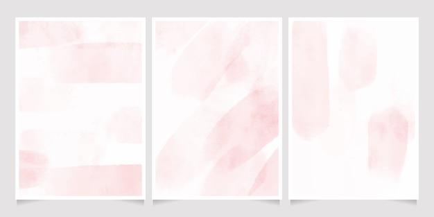 Roze aquarel nat wassen splash kaart Premium Vector