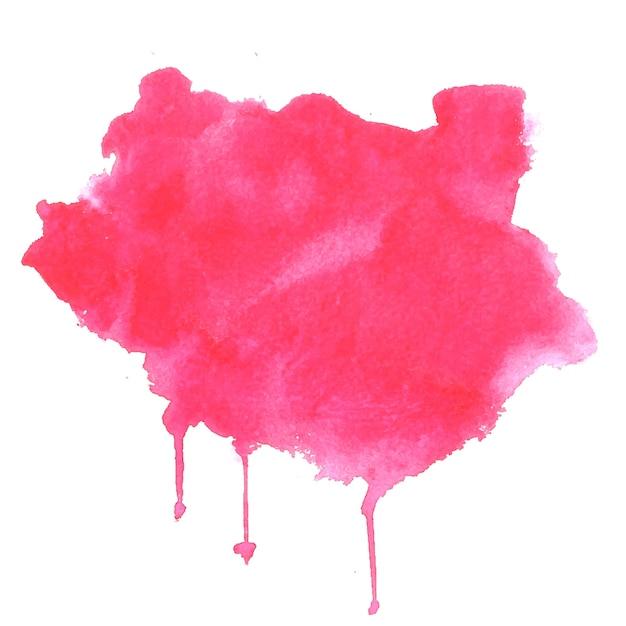 Roze aquarel splash vlek textuur achtergrond Gratis Vector