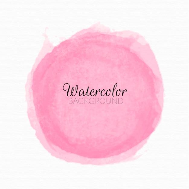 Roze aquarel verf vlekken achtergrond Gratis Vector