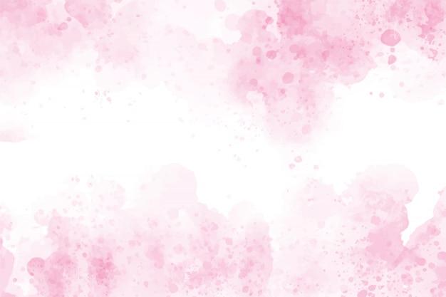 Roze aquarel was splash achtergrond Premium Vector