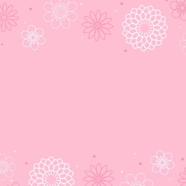 Roze bloemenpatroon Gratis Vector