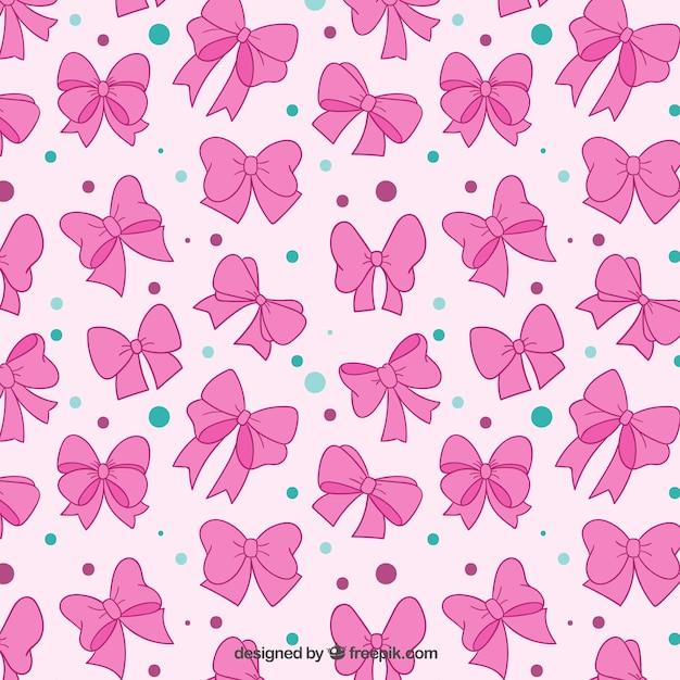 Roze bogen patroon Gratis Vector