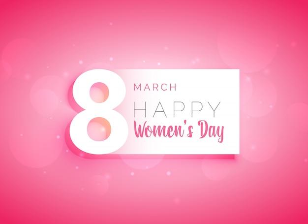 roze dames dag wenskaart ontwerp Gratis Vector