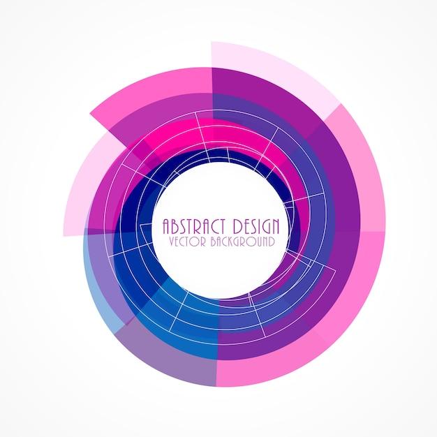 Roze en blauwe abstracte frame achtergrond Gratis Vector