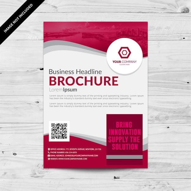 Roze en witte zakenbrochure Gratis Vector