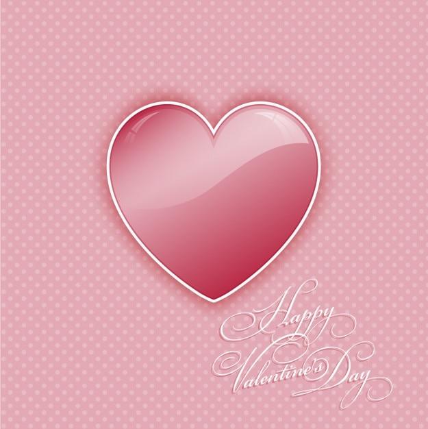 Roze hart valentine achtergrond Gratis Vector