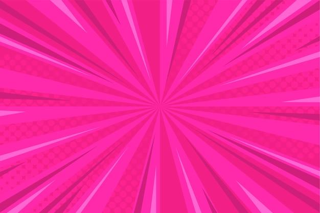 Roze komische achtergrond met halftone Gratis Vector
