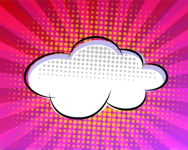 Roze komische toespraak bubble ontwerp Premium Vector