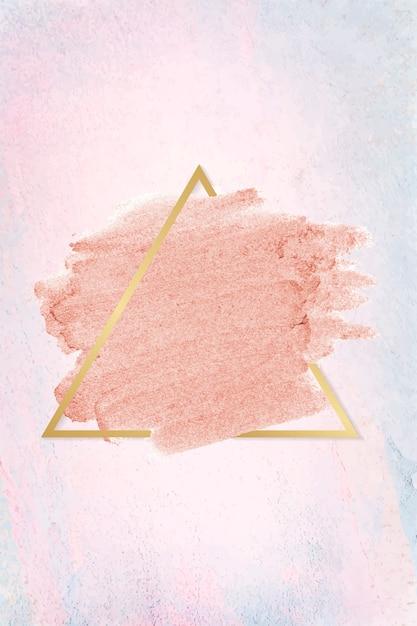 Roze lippenstiftvlek Gratis Vector
