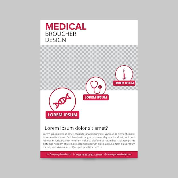 Roze medische brochure Gratis Vector