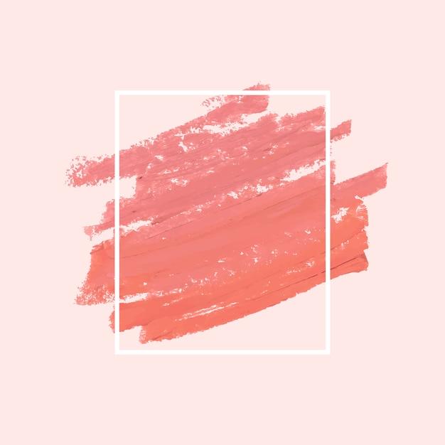Roze penseelstreek Gratis Vector