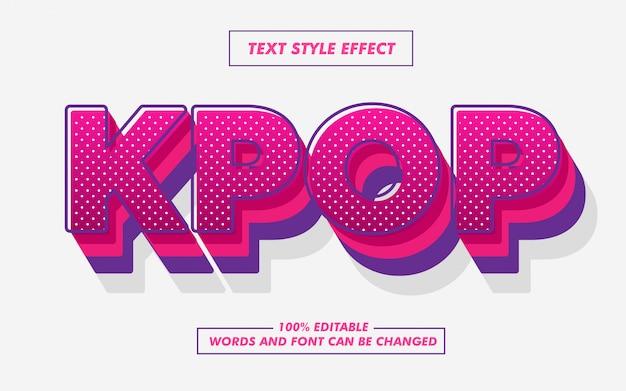 Roze pop-art tekststijleffect Premium Vector