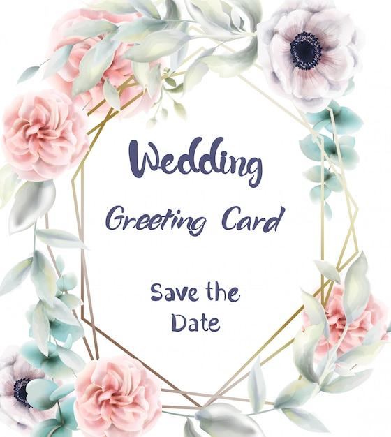 Roze rozen bloemen kaart aquarel. provence rustieke poster. bruiloft, verjaardagsuitnodiging, ceremonie evenement groet decors Premium Vector