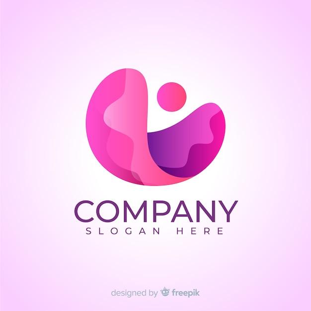 Roze verloop sociale media logo Gratis Vector