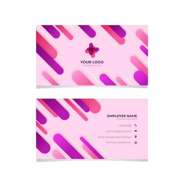 Roze visitekaartje abstract ontwerp Gratis Vector
