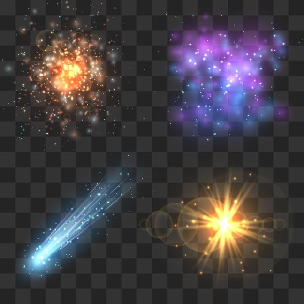 Ruimte kosmos objecten Premium Vector