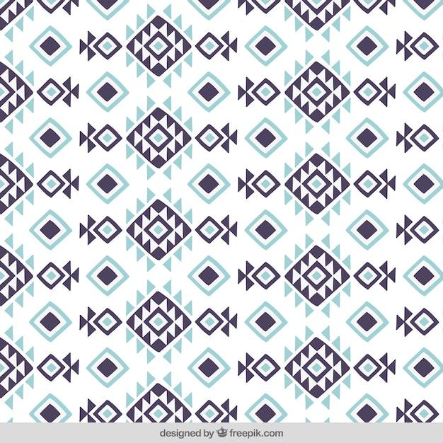 Ruitpatroon en driehoeken in etnische stijl Gratis Vector