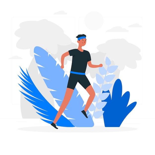 Running wild concept illustratie Gratis Vector