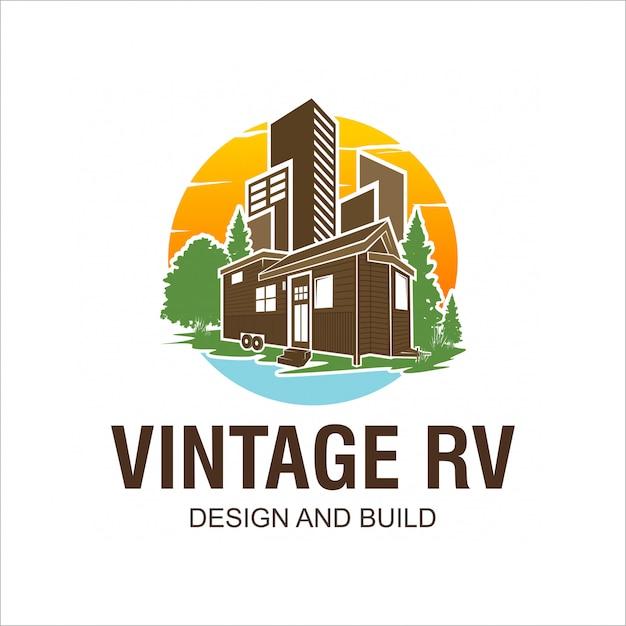 Rv-logo ontwerp Premium Vector