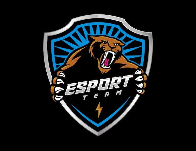 Sabertooth e-sport Premium Vector