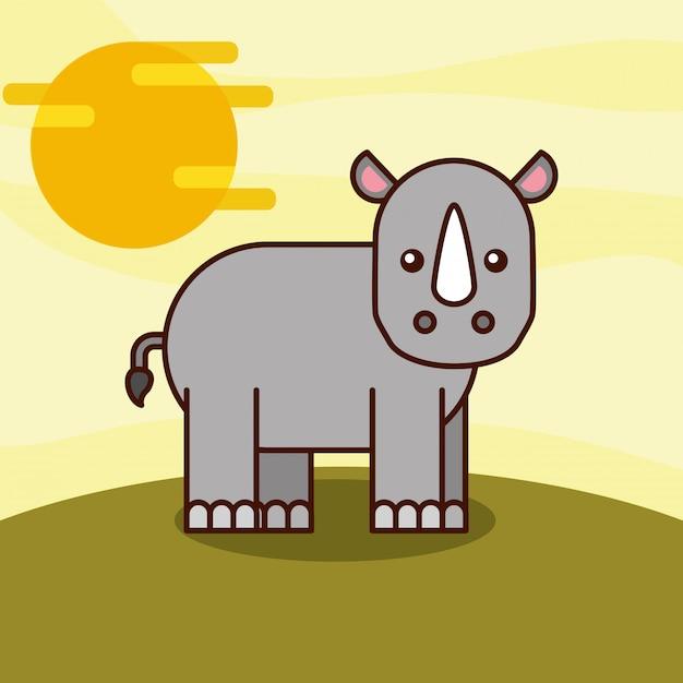 Safari dieren cartoon Gratis Vector