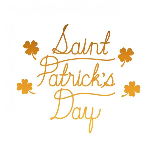 Saint Patrick's day label geïsoleerd pictogram Premium Vector