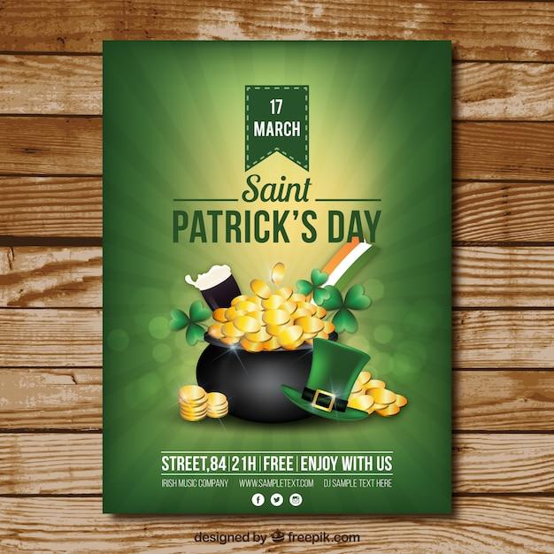 Saint patrick's day poster Gratis Vector