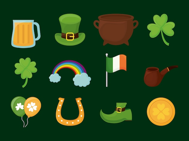 Saint patricks dag Premium Vector