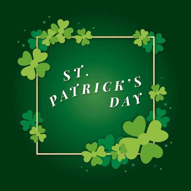 Saint patricks day-kaart Gratis Vector