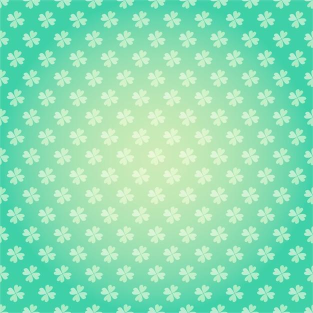 Saint patricks day naadloze patroon met klaver klaver cartoon kleurrijke lente Premium Vector