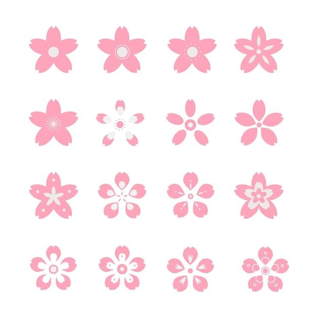 Sakura collectie concept Gratis Vector