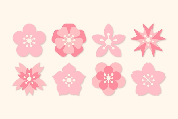 Sakura collectie thema Gratis Vector