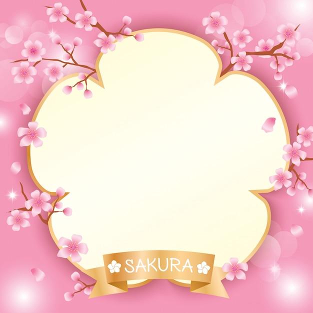 Sakura-sjabloon Premium Vector
