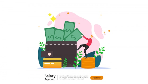 Salaris betaling concept Premium Vector