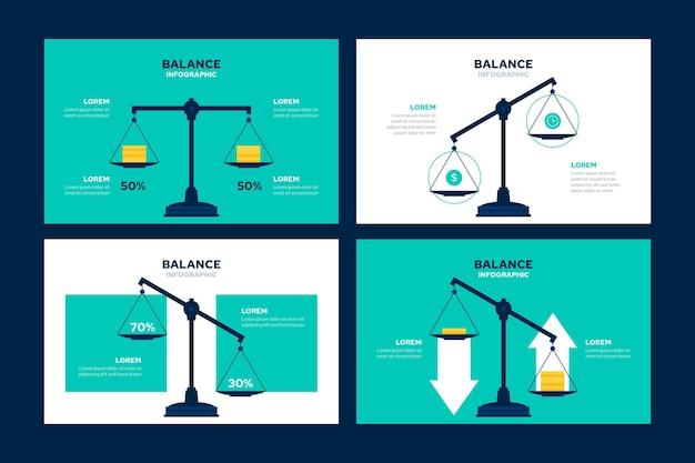 Saldo infographics bedrijfsconcept Gratis Vector